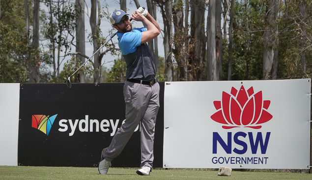 Mark Hensby carded seven birdies and an eagle on his way to 64.